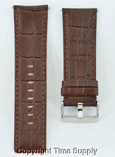 28 mm BROWN LEATHER WATCH BAND CROCO INVICTA JOJO RODEO