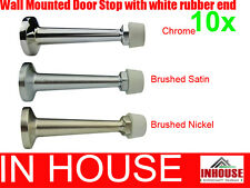 10xWall mounted door stops- Chrome, Brushed Satin, Brushed Nickel(DS019)