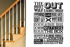 Always Think Outside The Box Wall Stickers Decals Art Quotes