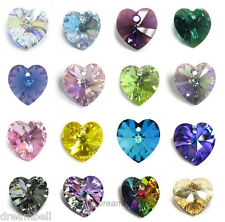 Swarovski Elements Crystal Heart 6202 Charm Pendant Many Colors / Sizes