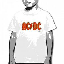 OFFICIAL AC/DC - Classic Logo White YOUTH T-shirt NEW LICENSED Kids Merch All SI