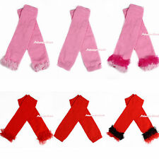 Hot Red Light Pink White Baby Girl Solid Colors Leggings Leg Warmers with Ruffle