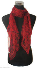 Factory direct sale wholesale 100% Silk Red Rose oblong Scarf