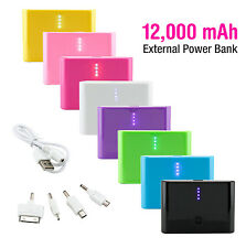 12000mAh External Power Bank Battery Charger For iPhone 5S HTC Samsung Tablet