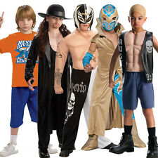 Child WWE Fancy Dress Muscle Chest Costumes Mask Outfit New Wrestler Kids WWF