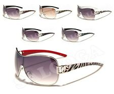 New DG Designer Fashion One Piece Lens Sunglasses With Animal Prints For Women.