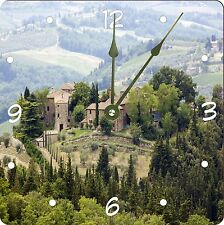 Rikki Knight Typical Tuscan Houses In The Hills Of Tuscany Wall Clock