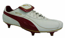 Puma King XL Sg Soft Ground Mens Boy Football Boots White Leather 101586 04 D110