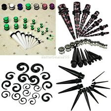 Hot Punk Kit Ear Tapers Plug Stretching Expanders Stretchers Tunnel Acrylic Ear