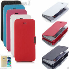 For iPhone 5 5G, 5S Magnetic Flip Hard Case Cover PU Leather Wallet