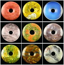 50mm Beautiful Multi-Color Kinds of stone Donut Pendant Bead