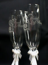 Persoanlized wedding Toasting Glasses, YOU pick 24 choices Parent Family Favor