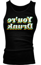 Youre Drunk Backwards St Patricks Day Funny Humor Drinking Boy Beater Tank Top