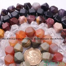 12mm Natural Faceted Square Agate, Amethyst,Quartz Gemstone Beads Strand 15""