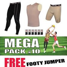 Mens Compression Tights Top Shorts Pants Leggings Footy Jumper Football Socks x6