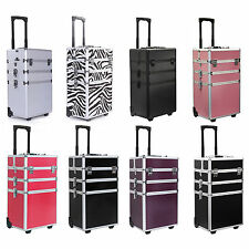 "35"" 4 in 1 Rolling Makeup Case Cosmetic Train Cases Beauty Box --FREE SHIPPING--"