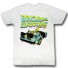 Back To The Future Btf Neon White S M L Xl Adult Men T-Shirt Tee