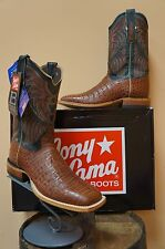MENS TONY LAMA EXOTIC COWBOY WESTERN BOOTS! CAIMAN CROCODILE! MADE IN USA! NIB