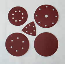Excenter Disc Grinding Wheels Sandpaper 125mm 150mm 180mm with 6, 8 or 9 Hole