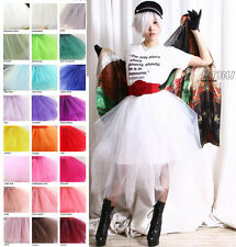 Custom Punk Goth Show Dance Custume Puffy Irregular Translucent TuTu Tulle Skirt