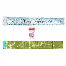 NEW Just Married Wedding Banner Reception Party Decorations