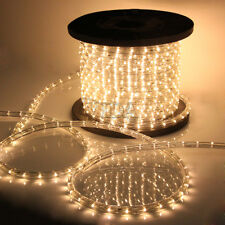 Waml White 2 Wire LED Rope Light 110V Home Party Christmas Decorative In/Outdoor