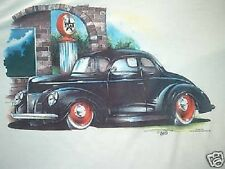 1940 COUPE RAT ROD HOT ROD BY BRENT GILL CHEST LOGO T SHIRT