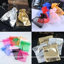 50/100pc Wholesale Bulk Lot Organza Jewelry Packing Pouch Wedding Favor Gift Bag