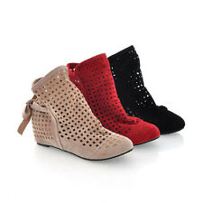 New Fashion With Holes Lady Saints Apartment With Sexy Women Ankle Boots Shoes