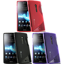 S-Line Wave Shape Gel TPU Rubber Soft Case Cover Skin For Sony Xperia Ion LT28at