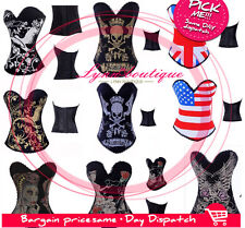 Sexy Gorgeous V-Neck Corset Hook up Overbust Bustier Lingerie Ladies Club Top