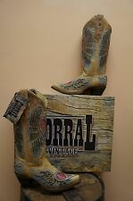 WOMENS CORRAL ANTIQUE SADDLE HEART & WINGS INLAY BOOTS A1976