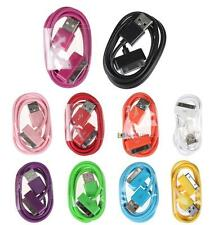 New 10 Colours 1M USB Data Sync Charger Cable Cord  Apple iPhone 4 4S 3G 3GS SS