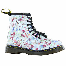 Dr.Martens  Deleany Floral  White Multi Kids Trainers