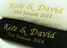 NEW PERFECT NEW HOME GIFT** Personalised Embroidered - Luxury Egyptian Cotton
