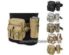 Tactical Hiking Camping Cycling Waist Fanny Pack Water Bottle Pouch Bag Holder