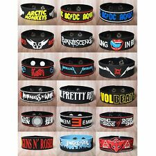 RUBBER WRISTBANDS BRACELET METAL PUNK ROCK MUSIC LOGO CUFF