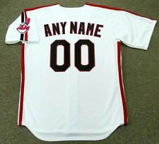 "CLEVELAND INDIANS 1990's Majestic Throwback Home ""Customized"" Baseball Jersey"