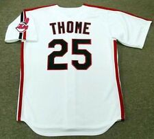 JIM THOME Cleveland Indians 1993 Majestic Throwback Home Baseball Jersey