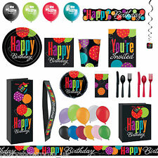 Cheery Cheer Balloons Black Birthday Party Supplies Decorations Tableware PS