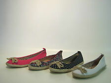 ladies spot on espadrilles in 4 different colours style f2234