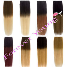 Premium Clip-in Dip Dye Ombre Remy Human Hair Extensions
