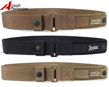 ROGISI Airsoft Tactical Military Nylon Heavy Duty Web Belt 3 Colors BK/CB/Khaki