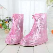 Waterproof Ladies Recycling Non-Slip Rain Boots Shoe Covers Overshoes Size S M L