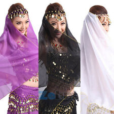 Belly Dance Chiffon Headpiece Head Scarf Shawl Veil Dancing Headband Costume New