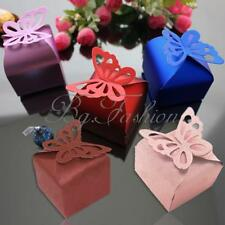 Butterfly Pattern Favor Gift Candy Bomboniere Boxes Wedding Party Baby Shower