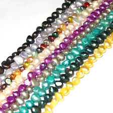 Jewelry Making Beads Natural Freeform Multicolor  Freshwater Pearl Strand 15""