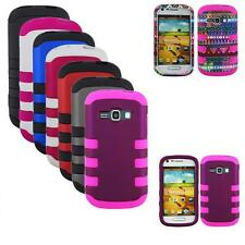 Phone Case For Samsung Galaxy Prevail 2 / Galaxy Ring Tri-Layered Hard Rib Cover