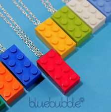 FUNKY LEGO BRICK NECKLACE CUTE KITSCH RETRO GIFT FUN COOL COLOURS INDIE SCENE UK