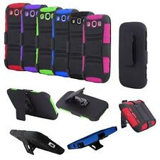 Phone Case for Straight Talk Samsung Galaxy S3 Rugged Hard Cover Stand + Holster